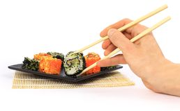 Traditional japanese food. Sushi asian stock images