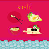 Traditional Japanese food menu Royalty Free Stock Photography