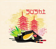 traditional Japanese food menu Royalty Free Stock Photo