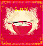 traditional Japanese food menu Stock Photos