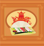 traditional Japanese food menu Royalty Free Stock Images
