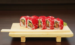 Traditional japanese food roll sushi Royalty Free Stock Image