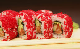 Traditional japanese food roll sushi Stock Photo