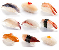 Traditional Japanese food - set of sushi Royalty Free Stock Image