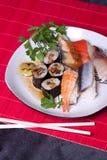Traditional japanese food - sushi. Close up Royalty Free Stock Photo