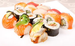 Traditional Japanese food Sushi Royalty Free Stock Photo