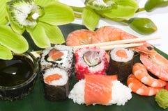 Traditional Japanese food Sushi. Stock Photos