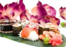 Traditional Japanese food Sushi. Royalty Free Stock Photo