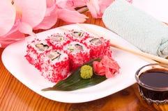 Traditional Japanese food Sushi Stock Photo