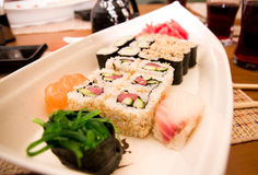 Traditional Japanese food Sushi. Stock Photos