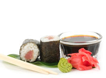 Traditional Japanese food Sushi. Royalty Free Stock Photography