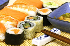 Traditional Japanese food Sushi Stock Images