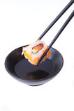 Traditional Japanese food Sushi. Traditional Japanese food, Sushi on white royalty free stock photos