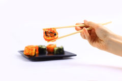 Traditional japanese food, Sushi Royalty Free Stock Image