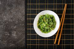 Traditional Japanese food. Top view. Flat lay stock photography