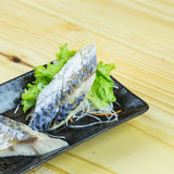 Traditional japanese food on wooden table Stock Photo