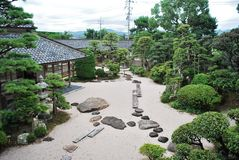 Traditional Japanese garden Royalty Free Stock Images