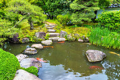 Traditional Japanese garden Koko-en in Himeji Stock Images