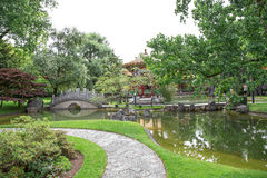 Traditional Japanese Garden Royalty Free Stock Photography