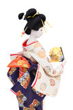 Traditional Japanese geisha doll. Side view Royalty Free Stock Image