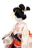 Traditional Japanese geisha doll. Side view Royalty Free Stock Images