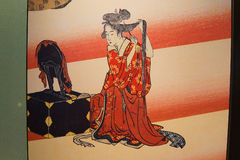 Traditional Japanese Geisha painting Royalty Free Stock Photography