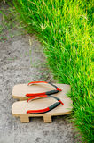 Traditional Japanese Geta slippers. Stock Photos