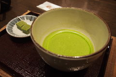 Traditional Japanese green tea Royalty Free Stock Image