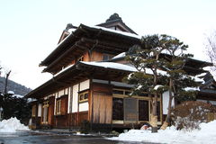 Traditional japanese house. Traditional wood house in Japan Stock Photo