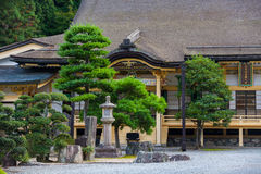 Traditional Japanese house with garden Royalty Free Stock Image