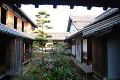 Traditional Japanese house garden Stock Photos