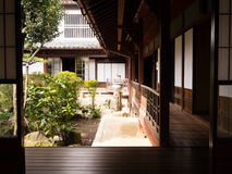 Traditional Japanese house with inner garden Stock Image