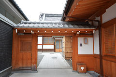 Traditional Japanese house Stock Images