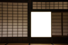 Traditional Japanese Interior window, Made from bamboo wood and Stock Photo