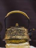 Traditional Japanese iron teapot Royalty Free Stock Image
