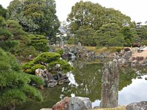 Traditional Japanese Landscape Garden at Nijo Castle, Kyoto, Japan Royalty Free Stock Photography