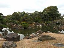 Traditional Japanese Landscape Garden at Nijo Castle, Kyoto, Japan Royalty Free Stock Photos