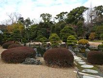 Traditional Japanese Landscape Garden at Nijo Castle, Kyoto, Japan Stock Photo
