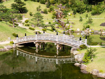 Traditional Japanese Landscape Garden On The Grounds Of Kanazawa Castle Stock Photos