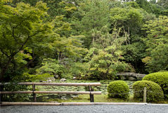 Traditional japanese landscaped garden in kyoto japan Stock Photo