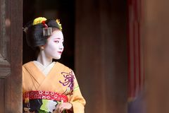 Traditional Japanese Maiko Royalty Free Stock Photo