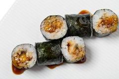 Traditional japanese maki unagi roll. Stock Photography