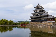 Traditional Japanese Matsumoto Castle stock photo