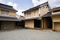 Traditional Japanese merchant house. Uchiko, Japan - March 3, 2013: Courtyard of Kamihaga residence, a traditional Edo period merchant house in historic Uchiko Stock Photography
