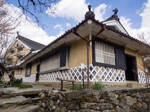 Traditional Japanese merchant house. Uchiko, Japan - March 3, 2013: Early spring in Kamihaga residence, a traditional merchant house in historic Uchiko town Royalty Free Stock Photography