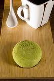 Traditional Japanese mochi with flavor of green tea Royalty Free Stock Photography