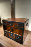 Traditional japanese ornated wooden chest Royalty Free Stock Photography
