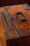 Traditional japanese ornated wooden chest Royalty Free Stock Image