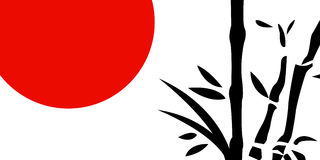 Traditional Japanese painting Stock Images