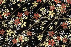 Traditional Japanese pattern background stock photo